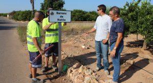 Agricultura Retola Els Barrancs Del Terme Per A Valorar I Difondre Els Noms Tradicionals De L'entorn Rural