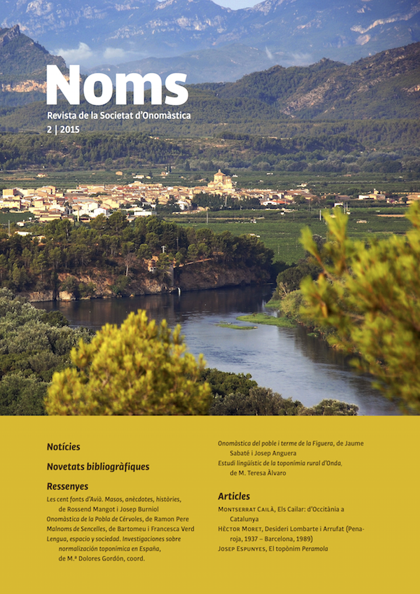 Nou Número De La Revista De La SdO, Noms 2 (2015)