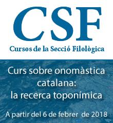 Curs Sobre Onomàstica Catalana: La Recerca Toponímica